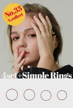 NO,33 [4set]Simple Rings